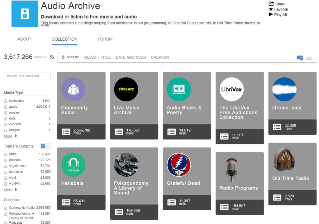 audio archive