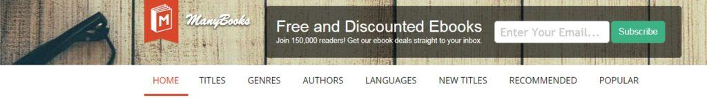 manybooks libri gratis da scaricare