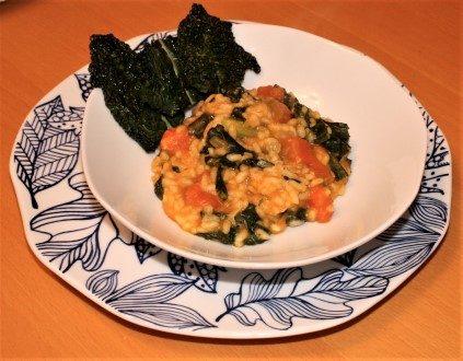 risotto zucca rossa cavolo nero